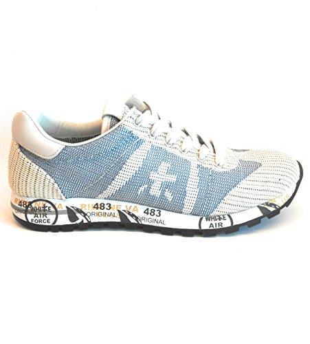 PREMIATA - Zapatillas para mujer Blanco blanco y gris