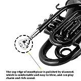 EastRock Pocket Trumpet Brass Bb Trumpet with 7 C