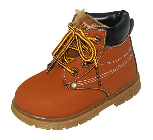 Unisex Boy Girls Martin Boots Children Shoes Fashion Sonw Boots Kids School Boots Size 25 Brown by Happy Cherry