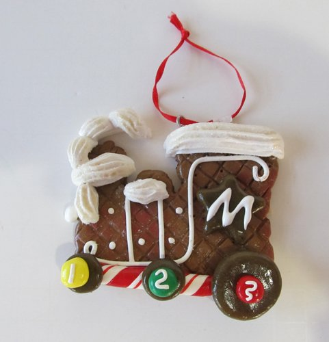 (Encore Christmas Gingerbread Cookie Candy Smoking Train Engine Tree)