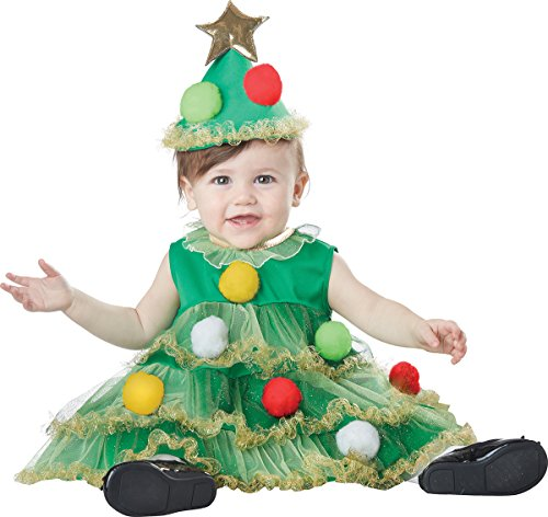 California Costumes Baby-Girls Infant Lil' Christmas Tree, Green, Large -