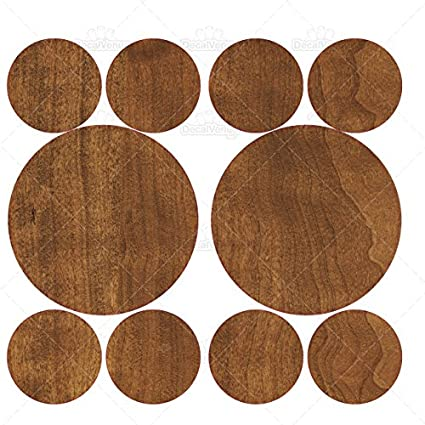 Amazon com: Set of 20 - Medium Brown Wood Effect Circles