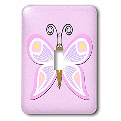 3dRose lsp_221560_1 Butterfly. Pink. Kids Decor. - Single Toggle Switch