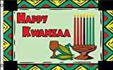 Happy Kwanzaa with Graphics Traditional Flag