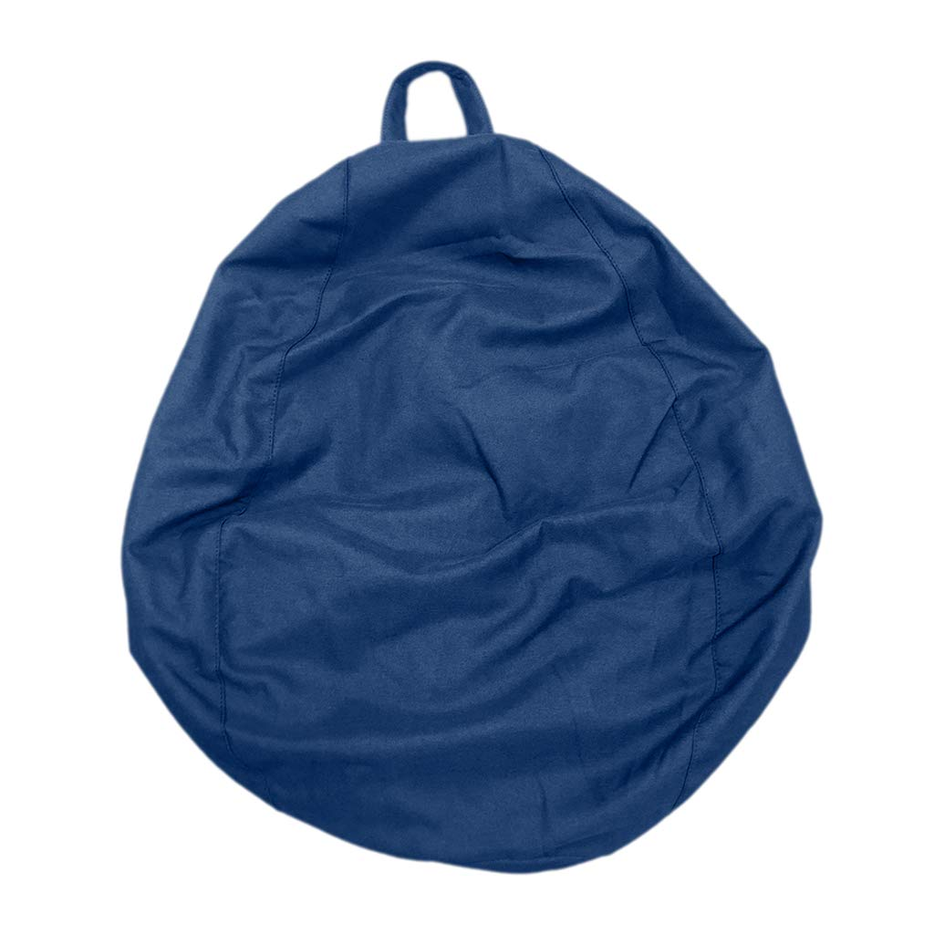 Fityle Large Size Adult Beanbag Covers Teen Bean Bag Chair Kids Seat Children's Chair Cover - Royal Blue