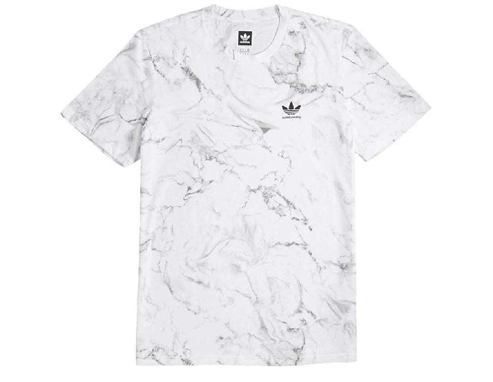 7ad49c398 Amazon.com  adidas Skateboarding Men s Marble 2.0 Tee White Large  Clothing