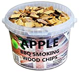 3 Litre BBQ Smoking British Wood Chips (Apple)