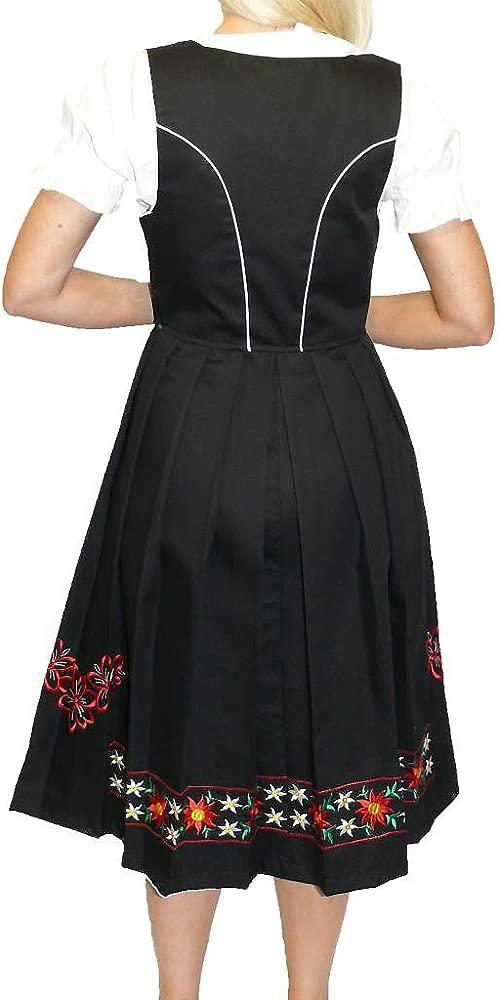 Sz 12 DIRNDL TRACHTEN HAUS German Dress Hostess OKTOBERFEST Long EMBROIDERED
