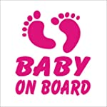 Pink Baby Feet Baby on Board Novelty...