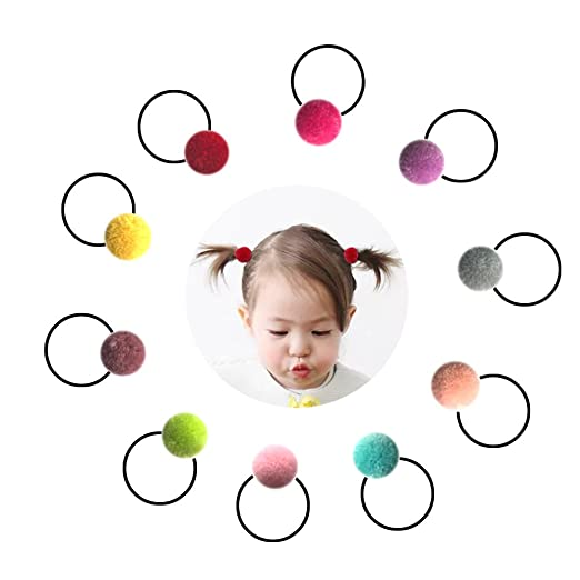 Baby Hair Ties Bows Kids Hair Tie Head Bands Ropes Hair Elastics Ponytail  Toddler Fabric girls 28d6020e2cf