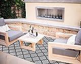 Gertmenian Brown Jordan Prime Label Patio Furniture Rug 9x12 Seneca Collection Sisal Woven Modern Outdoor Rugs, Gray, XL