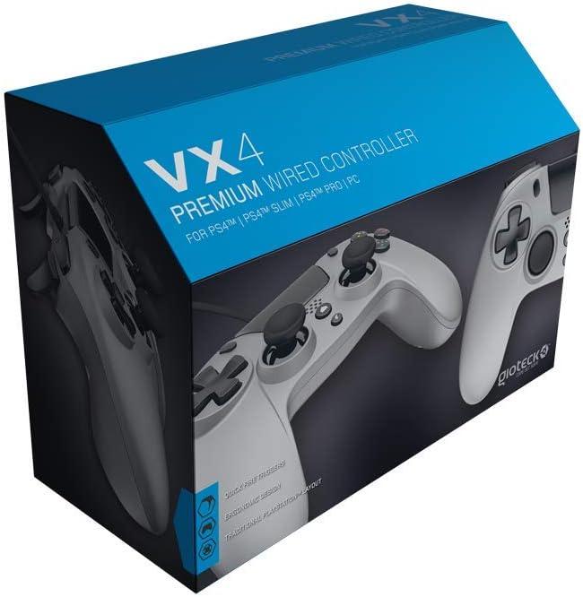 Gioteck - Mando con cable color Titanium Gioteck VX-4 (PlayStation 4): Amazon.es: Videojuegos