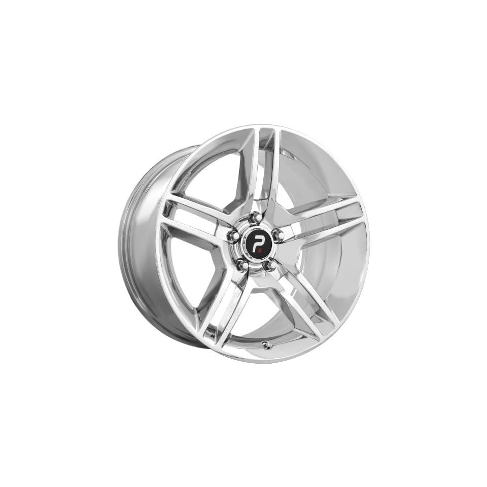 Strada Replicas 101 18 Chrome Wheel / Rim 5x4.5 with a 24mm Offset and a 70.6 Hub Bore. Partnumber 101C 816524