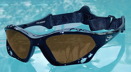 SeaSpecs Black Sunset Specs Extreme Sunglasses (Sunglasses Kitesurf)