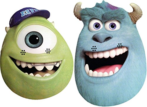Monsters University TWIN PACK - Mike & Sulley - Card Face Mask - Licensed Product]()