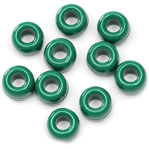 Darice Opaque, 6 x 9 mm, 720 Pieces Green Pony Beads, -