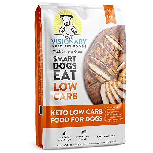 Visionary Pet – Keto Dog Food | Low Carb Kibble | High Protein | Natural Chicken Flavor | Grain Free Dry Dog Food with…