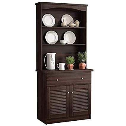 Amazon.com - Espresso Buffet Microwave Kitchen Storage ...