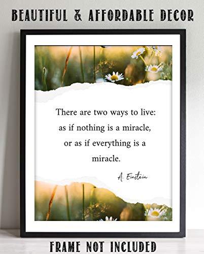 A. Einstein Quotes Wall Art-