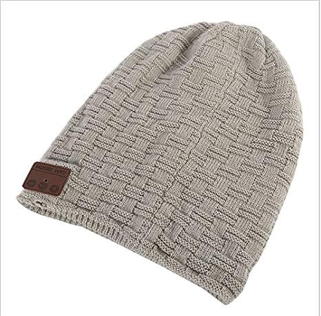 8188c062f32 DelightingDigital Warm Bluetooth Beanie Hat Wireless Headband Headset  Headphone With Stereo Speaker   Mic Unisex Knitted ...