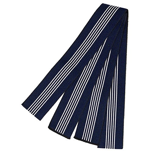 KYOETSU Men's Japanese Tanzen Obi Belt for Yukata Spa Robe (Blue) ()