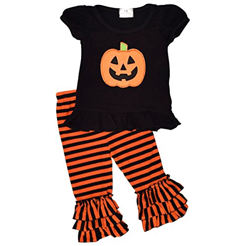 Halloween Shirts For Toddlers - Unique Baby Baby-Girls 2 Piece Halloween Pumpkin Outfit (4t)