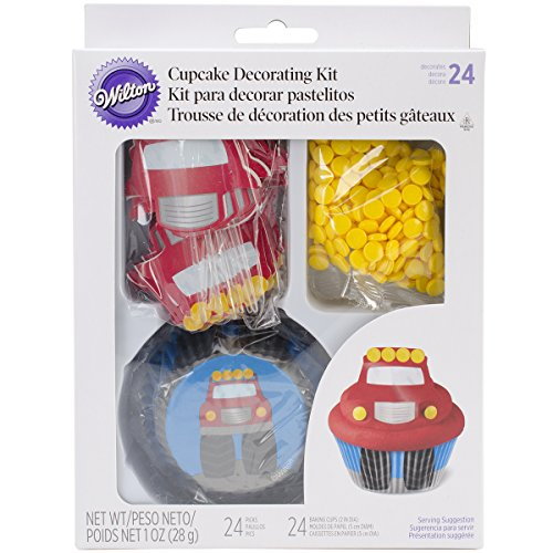 (Wilton 415-2195 Fire Truck Cupcake Decorating)