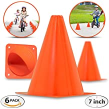 Premium 7-Inch Plastic Traffic Cones (6-Pack) | Orange, Multipurpose Construction Theme Party Cones For Various Activities & Events| Perfect For Kid Parties, Indoor, Outdoor & Festive Events
