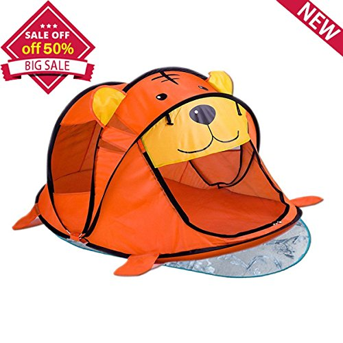 Chanvi Pop up Beach Tent with Cool Pad, Instant Travel Tents for 2-3 Baby -Protect Babies from the Sun & Bugs, Quick up Pop-Up Canopy System for Kids