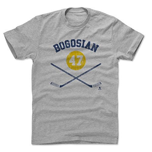 500 LEVEL Zach Bogosian Cotton Shirt XX-Large Heather Gray - Buffalo Sabres Men's Apparel - Zach Bogosian Buffalo Sticks B
