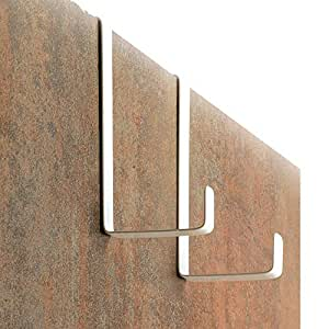 SOBRE LOS GANCHOS DE LA PUERTA 10 piezas por 4smile Perchas y ganchos de las puertas GANCHOS reversibles para puertas y gabinetes de armarios Acero inoxidable Hecho en Alemania