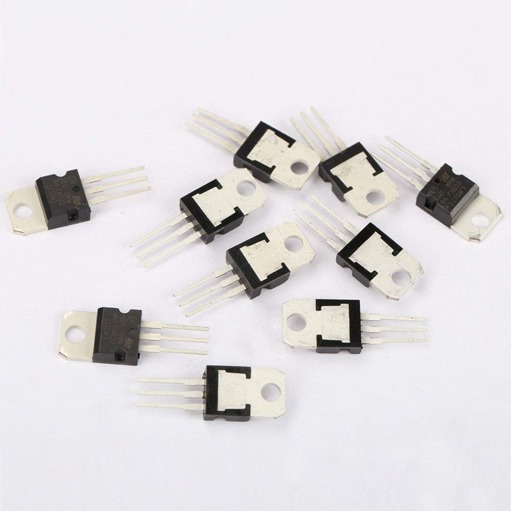 Koisy 10Pcs LM317T LM317 1.2V to 37V 1.5A Adjustable Voltage Regulator IC