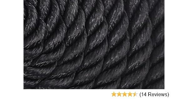 "7//16/"" x 20/' Double Braid Nylon Black//White Dock Rope 12/"" Loop"