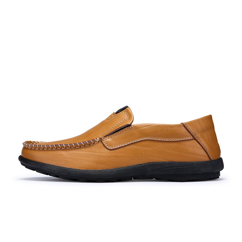 Sherry Love Loafers Men's Casual Style Slip-On Loafer-Brown-46 EU