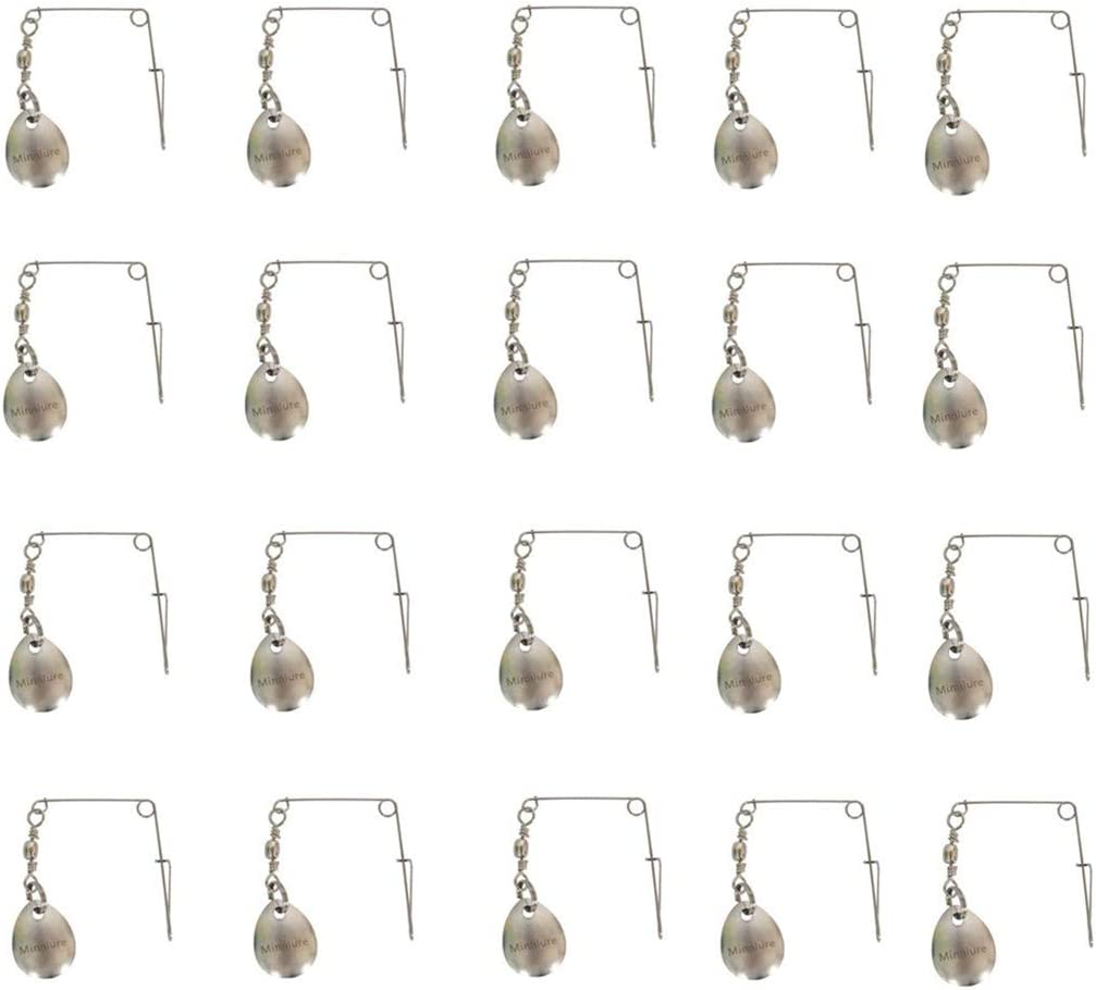 Mimilure 10 Pcs Spinner Blades Smooth Nickel Spoons Rigs Spinners Spinnerbait Fishing Lures Accessories (22pcs) : Sports & Outdoors