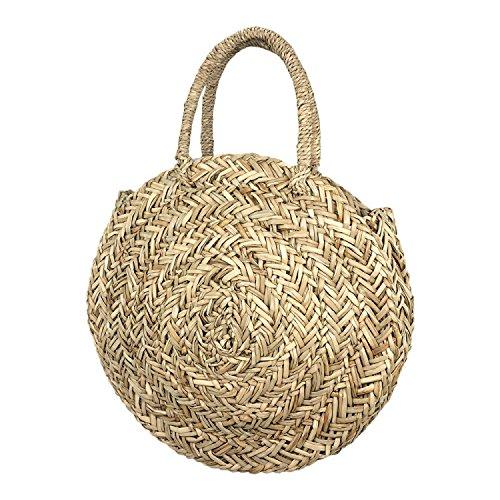 Beach Bag Handbag Straw Bag Holiday Ladies GAOQQ Open Simple Round Bag w4YAx5qvE