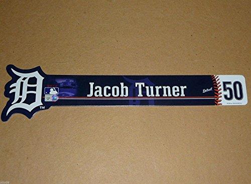 Jacob Turner #50 Game Used Detroit Tigers Locker Room Name Plate Sign Marlins - Game Used MLB Stadium Equipment