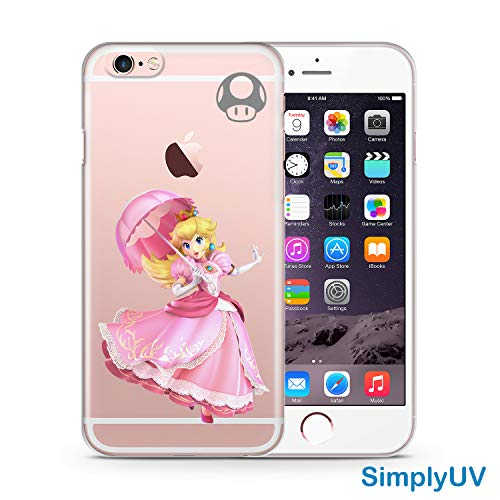 Princess Peach SSBU SimplyUV Clear Phone Case Compatible with iPhone 6 Plus/6s Plus -