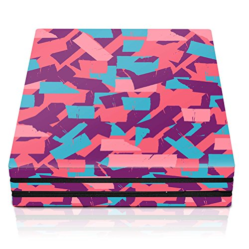 Controller Gear PS4 Pro Console Skin – Bubble Gum Torn Tape Horizontal – PlayStation 4