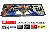 2017 Newest Model YoungGo Ultra Slim Metal 815 in 1 Classic Arcade Game Machine Pandora's Box 4S+ Video Game Console Double 8 Ways Arcade Joystick [HDMI&VGA] Output with LED Gradient Light