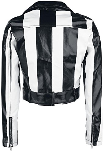 Rock Rebel by EMP Striped Jacket Chaqueta Mujer negro-blanco negro-blanco