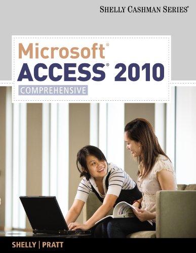 Microsoft Access 2010: Comprehensive (SAM 2010 Compatible Products) Pdf