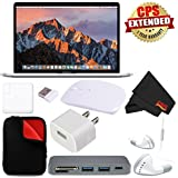 Apple 15 MacBook Pro, Retina, Touch Bar, 2.9GHz Intel Core i7 Quad Core MPTV2LL/A + MicroFiber Cloth + 2.4 GHz Slim Optical Wireless Bluetooth + Padded Case For Macbook Bundle