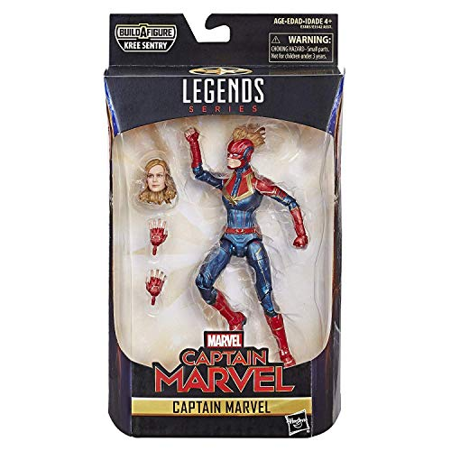 Marvel Captain Marvel  6-inch Legends Captain in Costume Figure for Collectors, Kids, and -