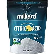Milliard Citric Acid - 10 & 50 Pound Bulk - 100% Pure Food Grade NON-GMO
