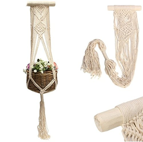 Hook Flower Pot Holder String Hanging Rope Wall Art Home Garden Balcony Decoration Plants Hanger 40 (Venus Fly Trap Adult Costumes)