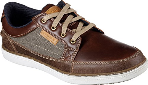 Skechers Mens Classic Fit Lanson - Elaven Red Brown Leather shop for sale online outlet eastbay sale online store yGxAGPWHi