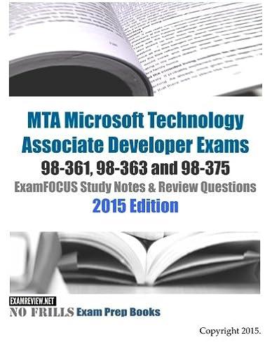 mta microsoft technology associate developer exams 98 361 98 363 rh amazon com exam 98-361 study guide pdf mta 98-361 study guide
