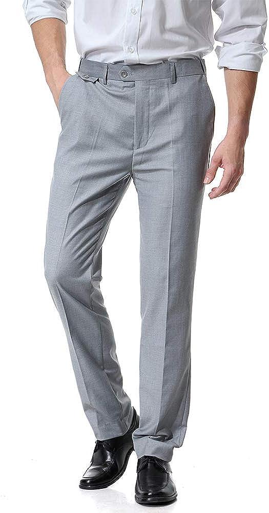 DianShaoA Pantaloni da Abito Uomo Completo Pantaloni Slim Fit Elegante Perfetto per Business//Festa//Cerimonia
