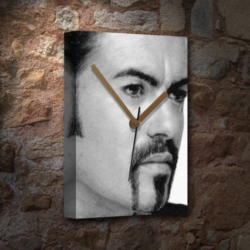 George Michael - Canvas Clock (Large A3 - Signed by The Artist) #js001 Seasons Original Art